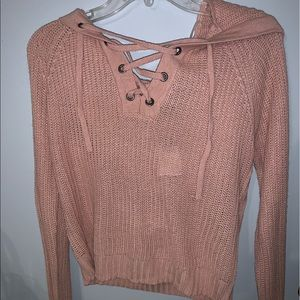 cropped light weight sweater
